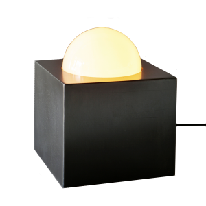Steel Light Box Table Lamp-John Beck