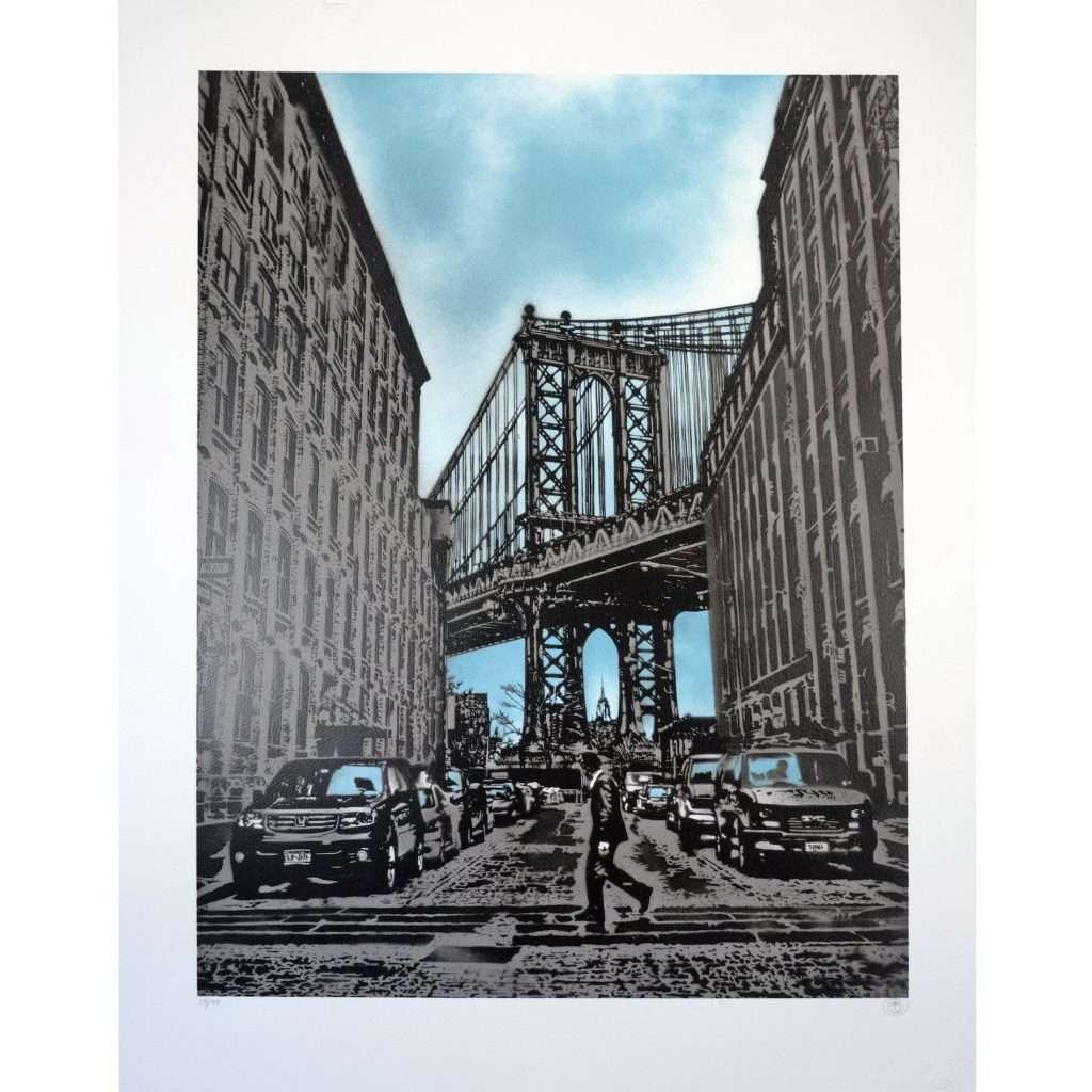 Nick Walker-Manhattan Bridge-Private Collection Art