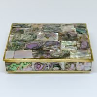 Brass Box With Mother of Pearl Inlay