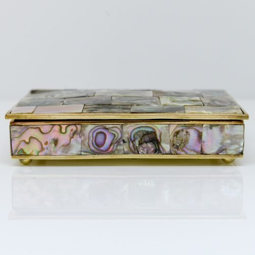 Micucci Interiors - Brass Box With Mother of Pearl Inlay