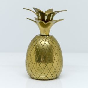 American Hollywood Regency Brass Pineapple-Collectibles candleholder