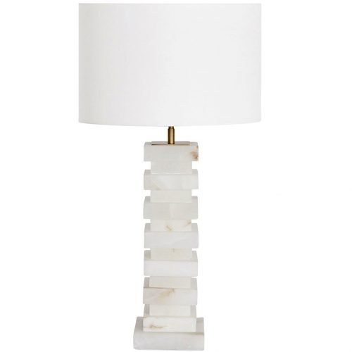 Micucci Interiors - Rene Alabaster Table Lamp Large