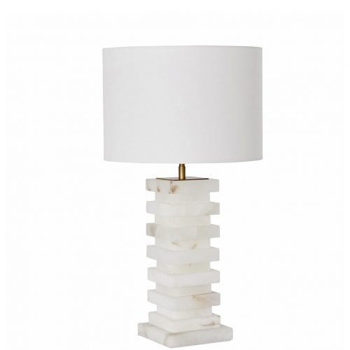 Micucci Interiors - Rene Alabaster Table Lamp Regular