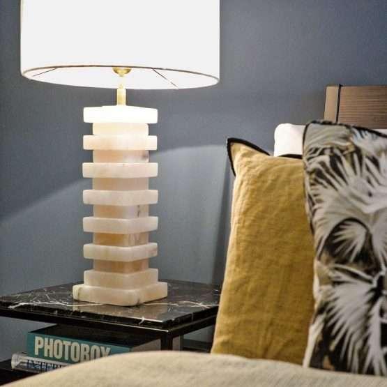 Rene Alabaster Table Lamp Large