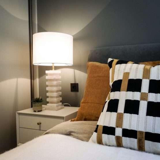 Micucci Interiors - Rene Alabaster Table Lamp Regular