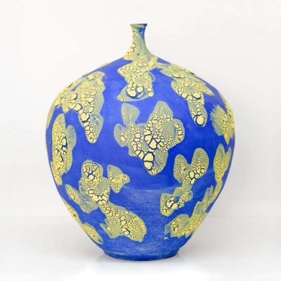 Micucci Interiors - Crawl Regular Vase Blue & Yellow