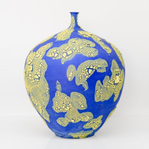 Micucci Interiors - Crawl Regular Vase Blue & Yellow