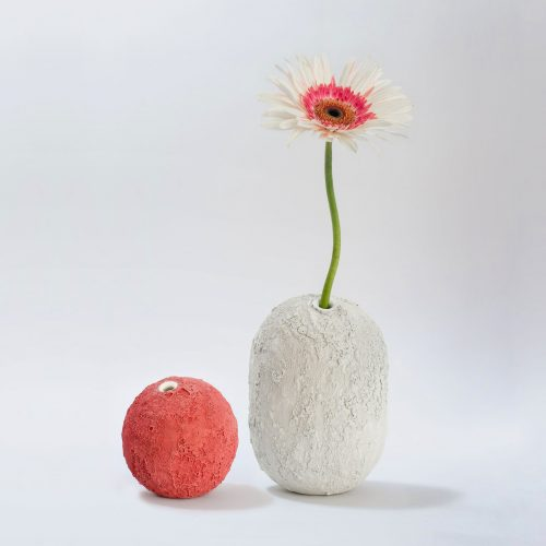 Micucci Interiors - GEA CERAMIC VASE – CORAL RED