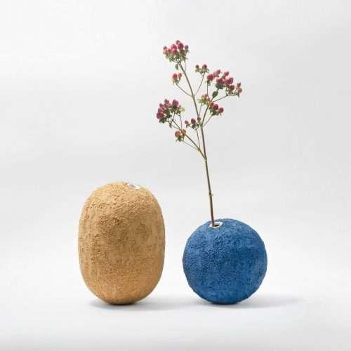 Micucci Interiors - GEA CERAMIC VASE – COBALT BLUE