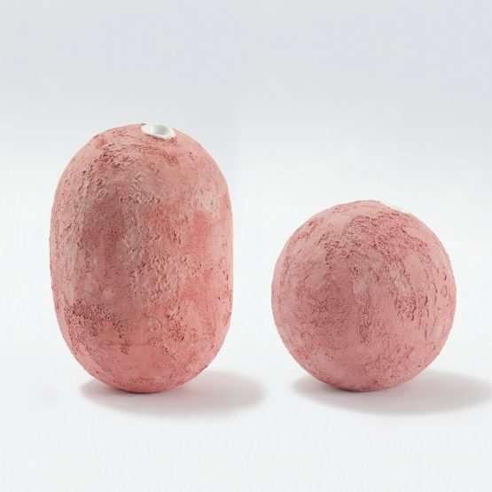 GEA Ceramic Vase-Coral Pink-Claudio Pulicati Ceramics