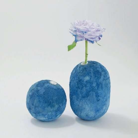 GEA Ceramic Vase-Cobalt Blue-Claudio Pulicati Ceramics