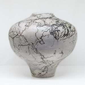 Horsehair Orb Vase-Ceramic