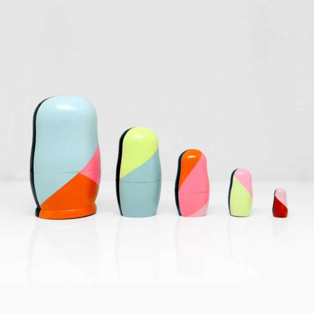 Frea Buckler-Russian Dolls hand-painted