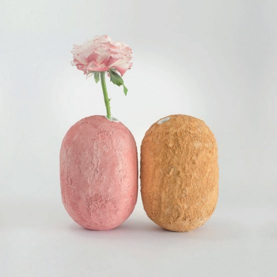 GEA Ceramic Vase-Antimony Yellow-Claudio Pulicati Ceramics