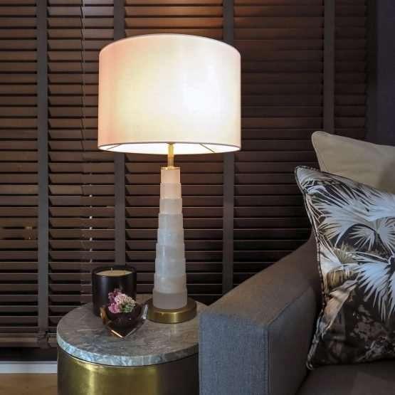 Micucci Interiors - Lorraine Alabaster Table Lamp