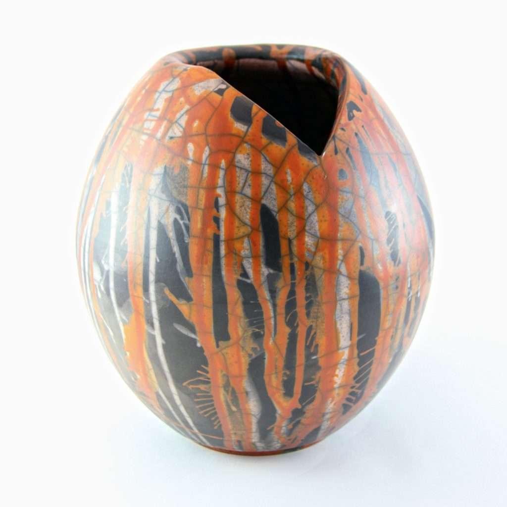 Raku Dolce Large Vase-Ceramics