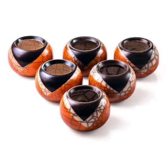 Raku Dolce Small Vase-Denis Di Luca Ceramics-small vases ceramic Interiors