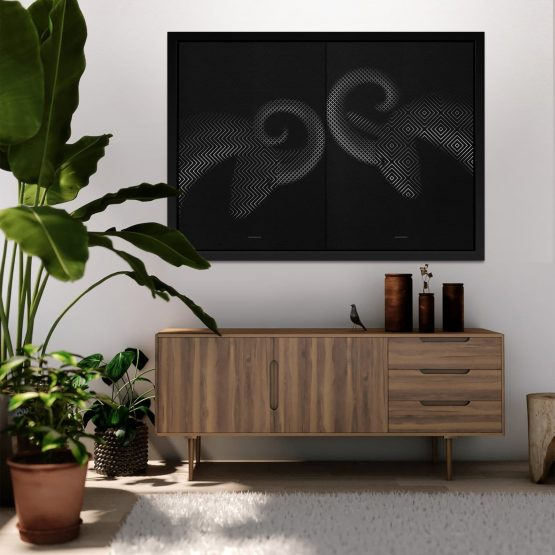 Micucci Interiors - Tim Christie – Rucking Rams / Diptych