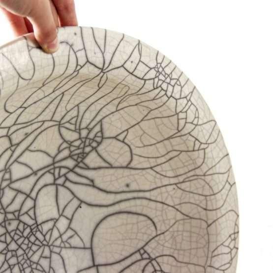 Spider Raku Large Bowl-Ceramic-large bowl ceramic artist
