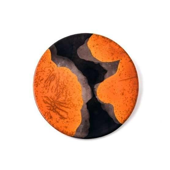 Raku Dolce Large Plate-Denis Di Luca Ceramics