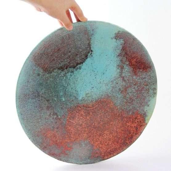 Micucci Interiors - Raku Large Copper Plate