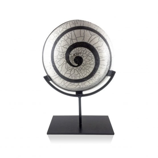 Micucci Interiors - Raku Spiral Display Plate