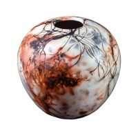 Saggar Volcano Vase-Ceramic