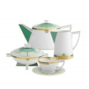 Emerald 15 Piece Tea Set