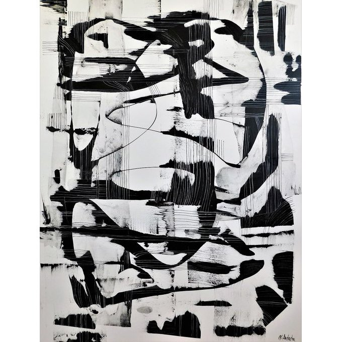 Natia Antadze-Composition Flirt-Private Collection Art