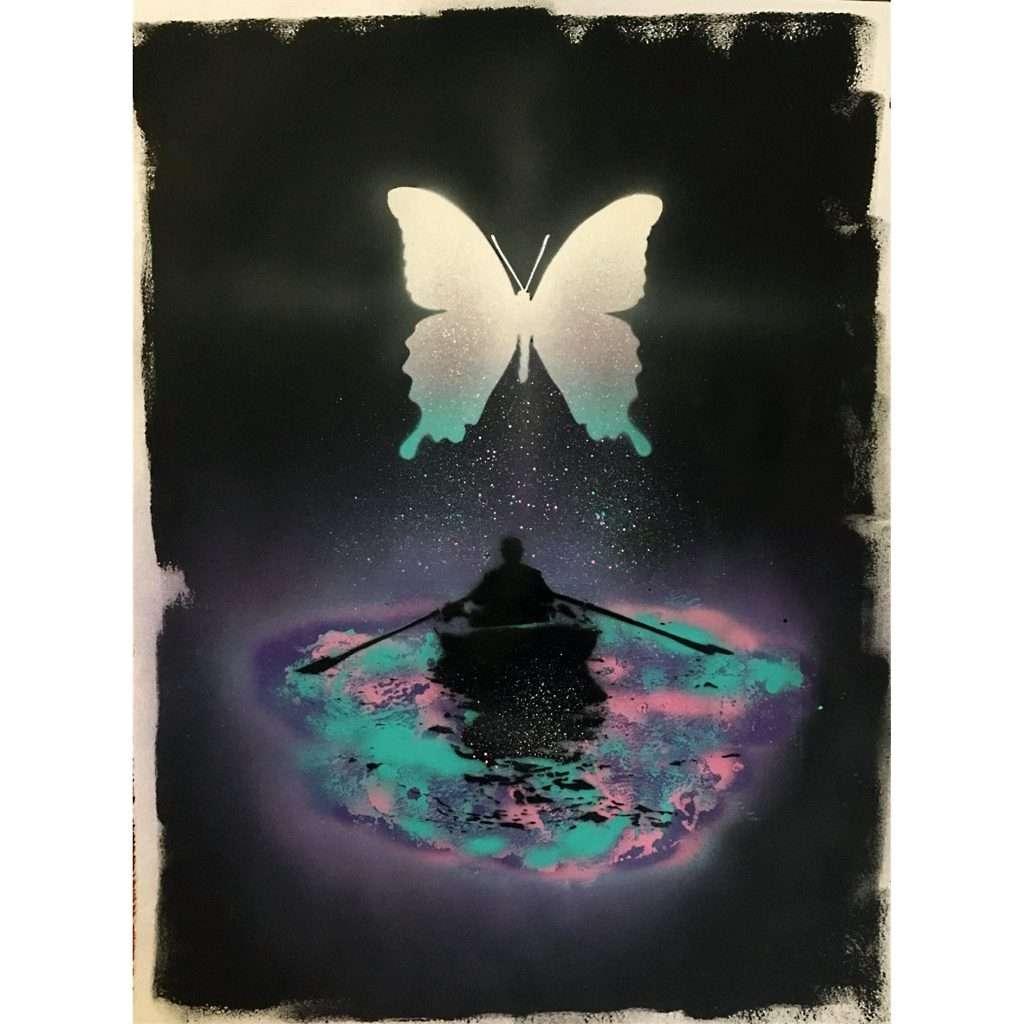 Art silkscreen print-Nick Walker-Iridescent Dream-Private Collection Art