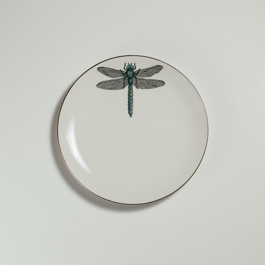 Dragonfly Dessert Plate-Micuit Collection