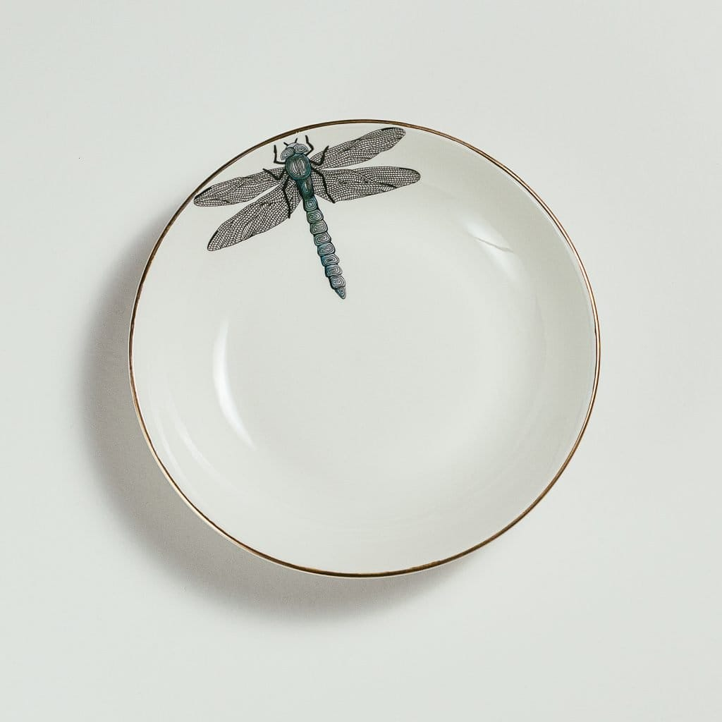 Dragonfly Soup Plate-Micuit Collection