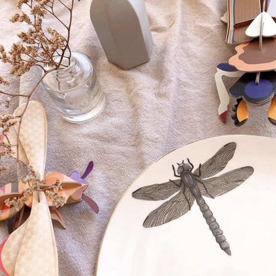 Micuit-dragonfly Dinner Plate | Micuit Collection-Micucci Interiors