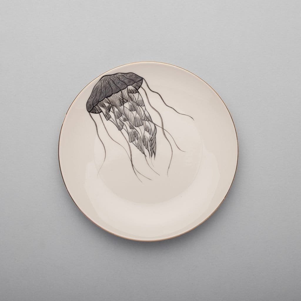Jellyfish Dessert Plate-Micuit Collection