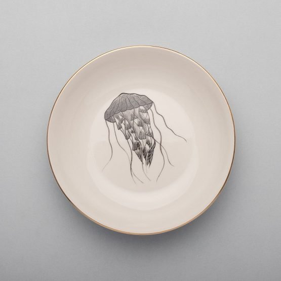 Jellyfish Soup Plate-Micuit Collection