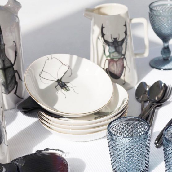Micuit-drangonfly Dinner Plate | Micuit Collection-Micucci Interiors