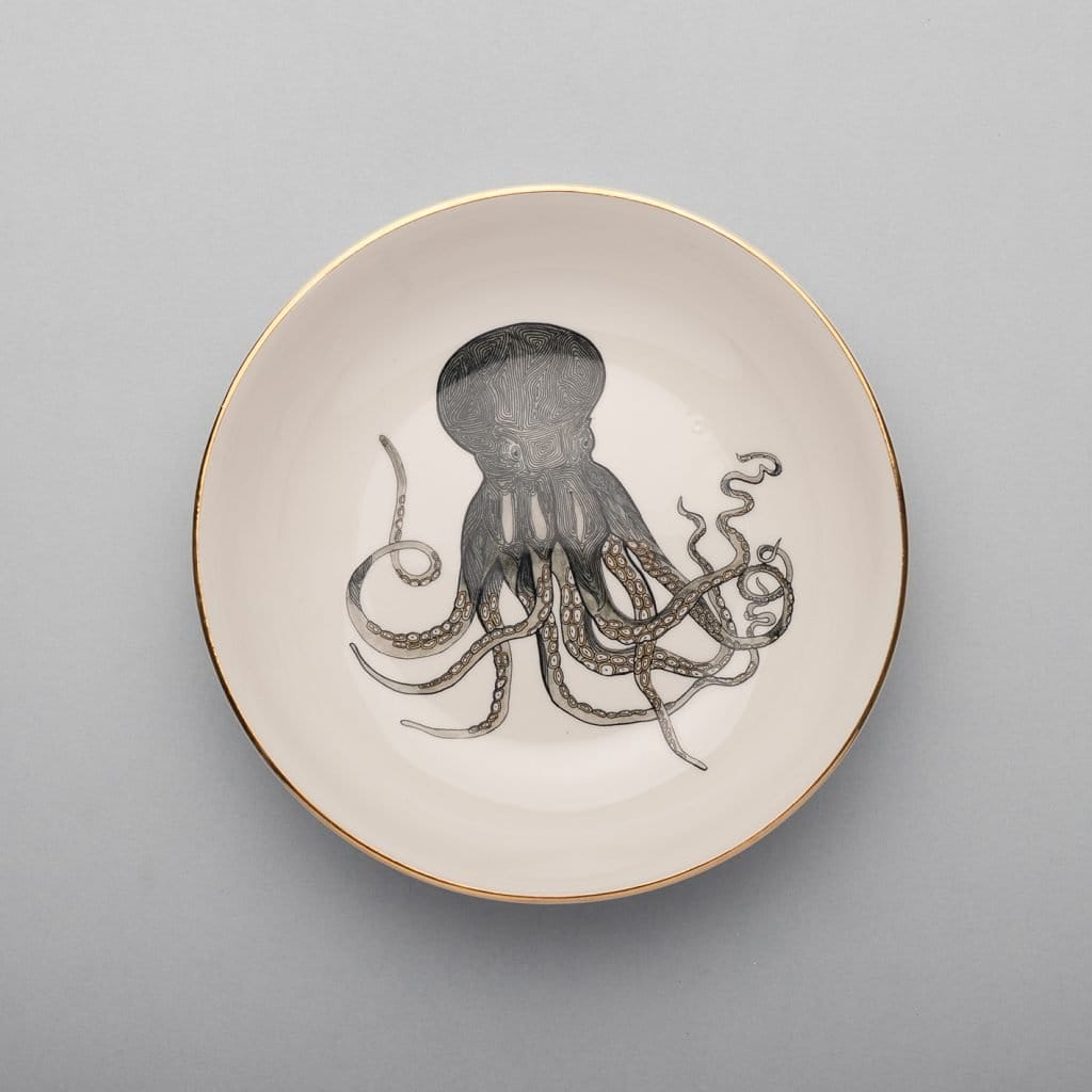 Octopus Soup Plate-Micuit Collection