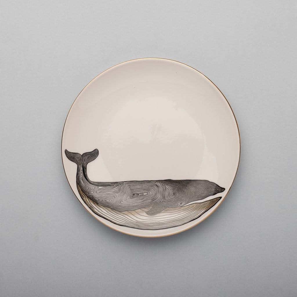 Whale Dessert Plate- Micuit Collection