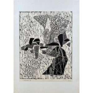 LUIGI VERONESI-Composizione 100-Collectibles Contemporary Art printmaker