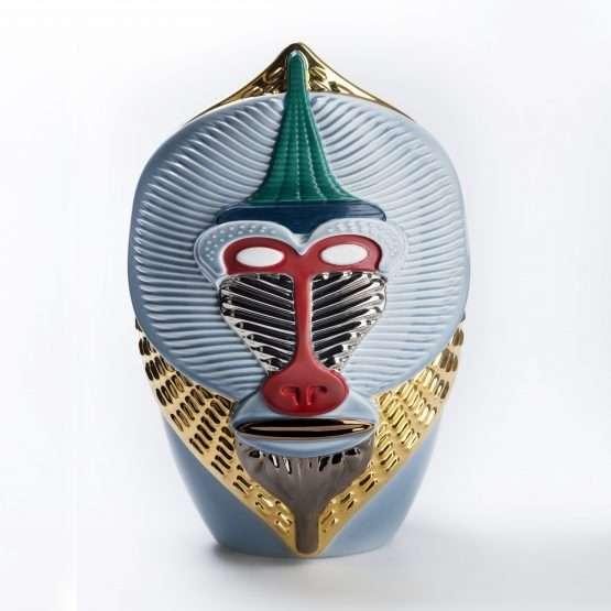 PRIMATES-Mandrillus Vase -Ceramic-vibrant colours textures patterns