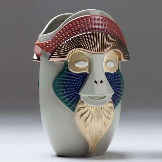 PRIMATES-Brazza Vase-Ceramic