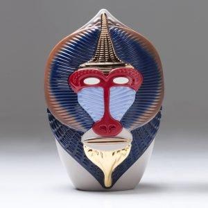 PRIMATES-Mandrillus Vase -Ceramic