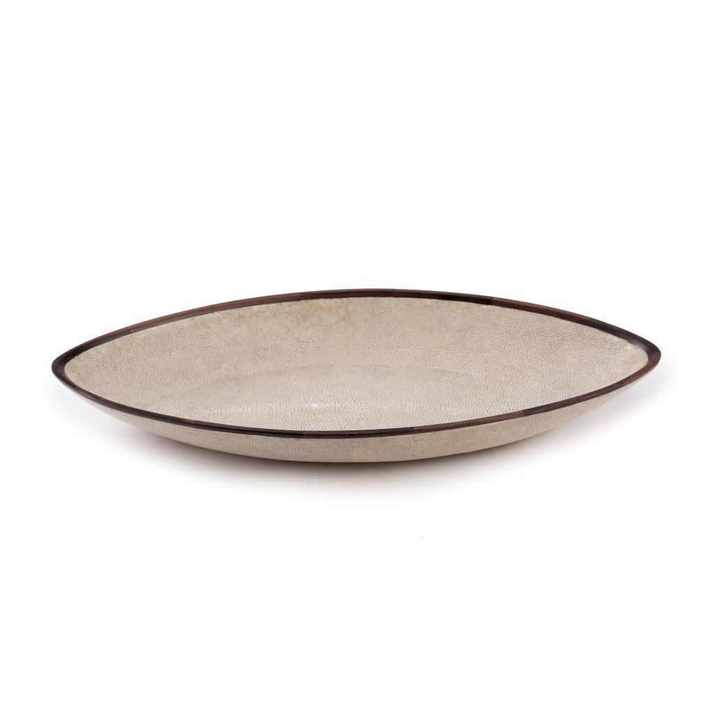 Almond Tray-Ebony Trim-Shagreen Tray home decor