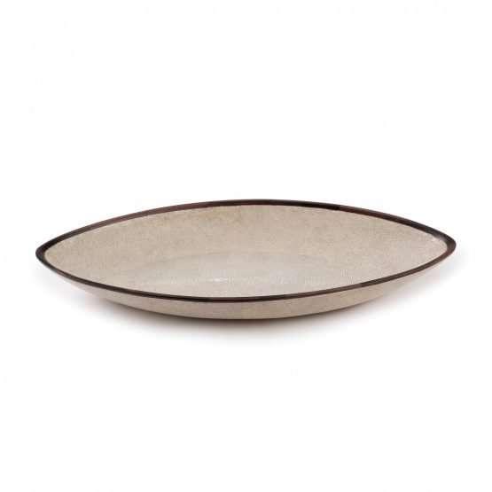 Almond Tray-Ebony Trim-Shagreen Tray home decor