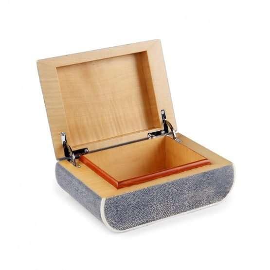 BonBon Shagreen Box Grey Colour-handmade Accessories