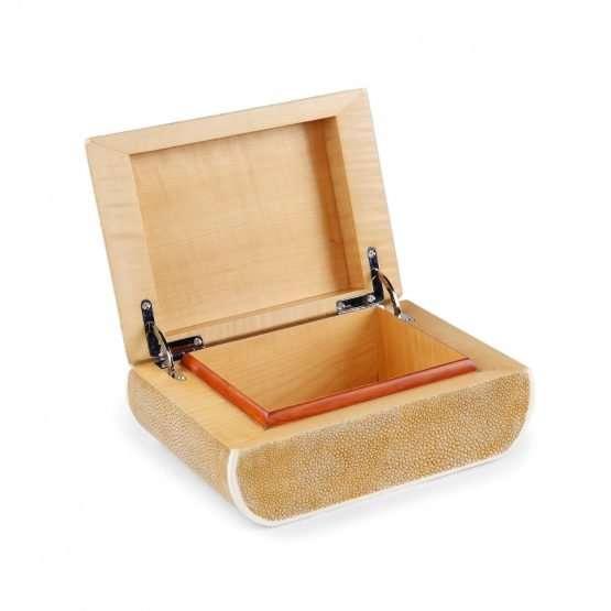 BonBon Shagreen Box Brown Colour-handmade Accessories