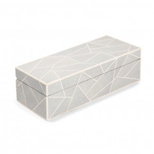 Geometric Shagreen Watch Box ebony