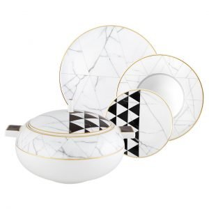 Carrara 64 Piece Dinner Set