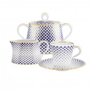 Constellation D'OR 14 Piece Coffee Set-Vista Alegre hand-painted porcelain