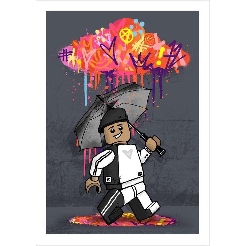 umbrella painting art wall
